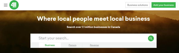 411.ca Canadian People finder
