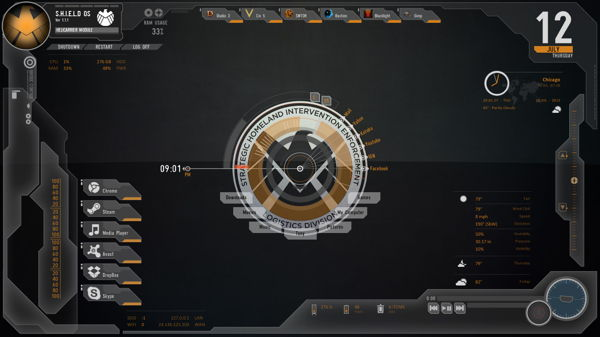 Avengers Shield rainmeter skin