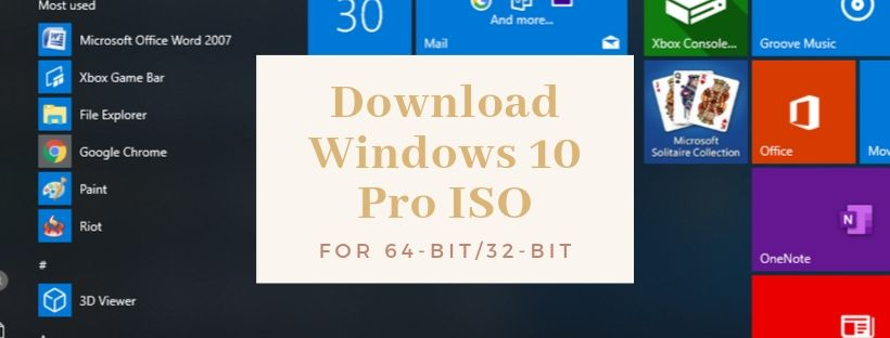 Download Free Windows 10 Pro
