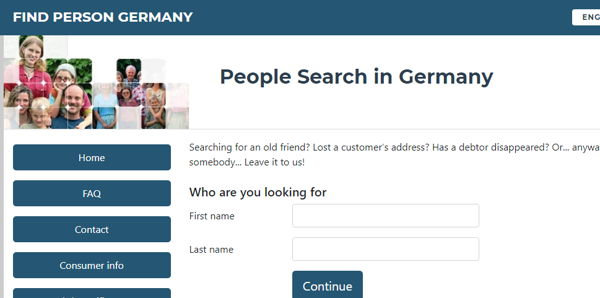 Find Person Germany people finder