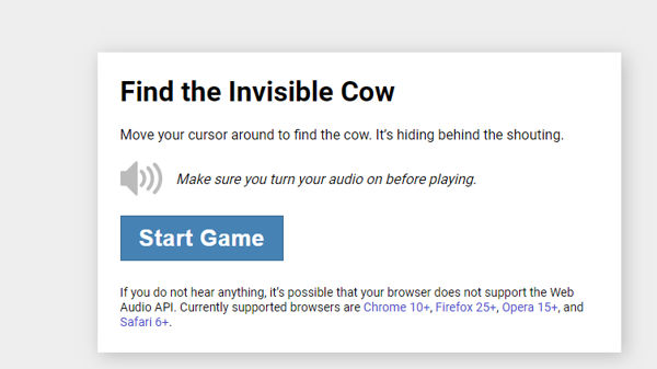 Best cool site Find the Invisible Cow