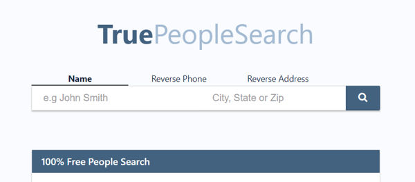 TruePeopleSearch people finder