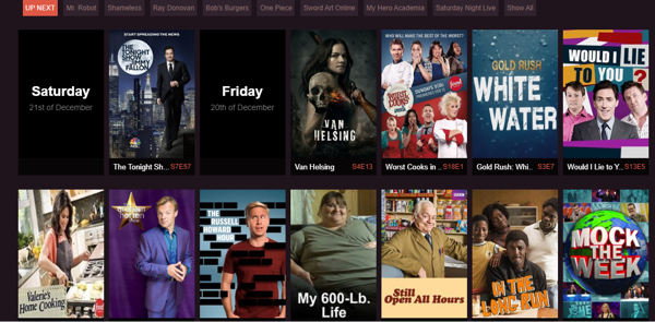 NewEpisodes for online movies and shows
